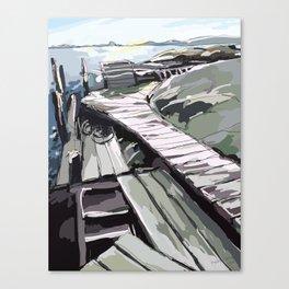 Horsika Pier Canvas Print