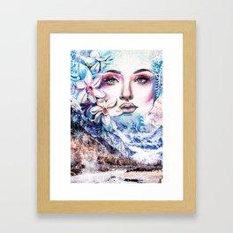 Face of the winter Framed Art Print