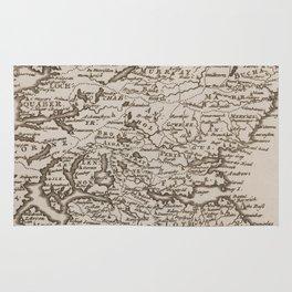 Vintage Map of Scotland (1681) Rug