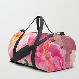 Vibrant Bouquet with filters Duffle Bag