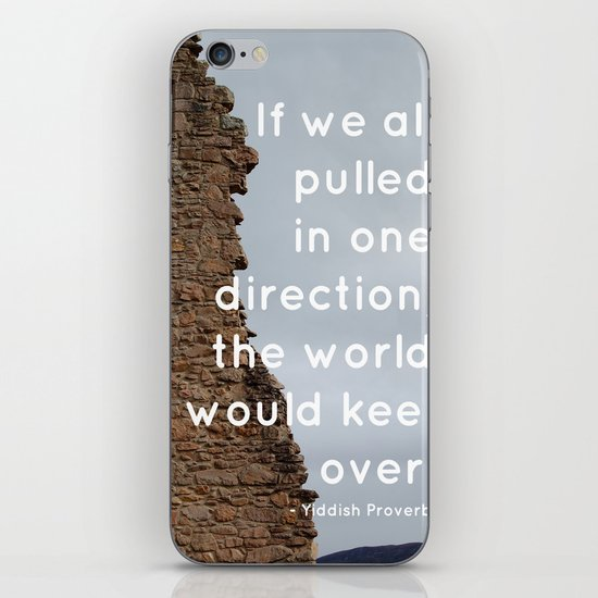 Go your own way iPhone & iPod Skin