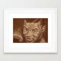 mike tyson Framed Art Prints featuring round 7...mike tyson by noblackcolor