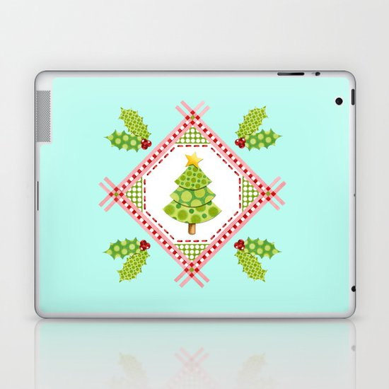 Holiday Polka Dots Laptop & iPad Skin