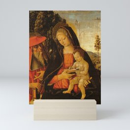 Pinturicchio - Madonna with Writing Child and St Jerome Mini Art Print