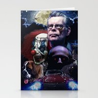 stephen king Stationery Cards featuring Stephen King by Saint Genesis