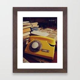 Library Phone Framed Art Print
