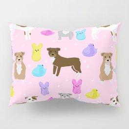 Pitbull dog breed peeps marshmallow easter spring dog pattern gifts pibble Pillow Sham