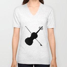 Fiddle Silhouette Unisex V-Neck