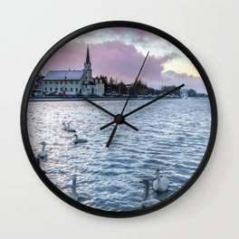 Afternoon Sunrise Wall Clock