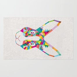 Rainbow Rabbit Rug