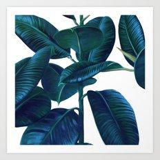 Luna Leaves Art Print