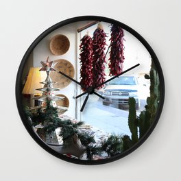 Christmastime Cacti Wall Clock