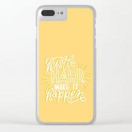 hustle hard Clear iPhone Case