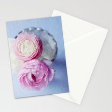 Summer Pastel Ranunculus Stationery Cards