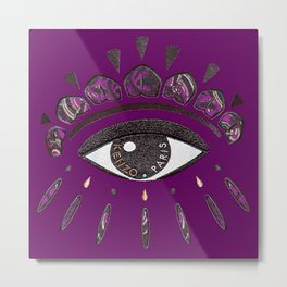 Kenzo eye in purple Metal Print