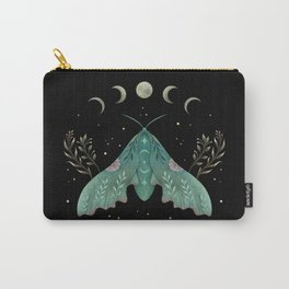 Luna and Moth - Midnight Black Carry-All Pouch