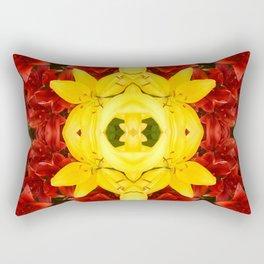 """A Gathering of Lilies"" Remix - 1 (3-1) [D4465~12] Rectangular Pillow"