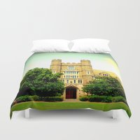 medical Duvet Covers featuring duke medical by Chromatic Reflections