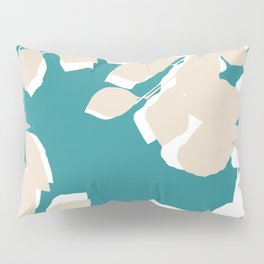 leves teal and tan Pillow Sham