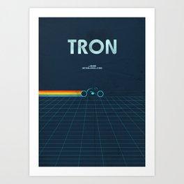 A MOVIE POSTER A DAY: TRON Art Print