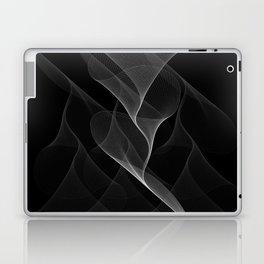 Black and White Flux #minimalist #homedecor #generativeart Laptop & iPad Skin
