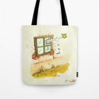 apple Tote Bags featuring Apple! by Pepan