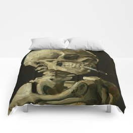 Vincent van Gogh Head of a Skeleton with a Burning Cigarette Comforters