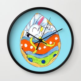 Painted with Frosting Wall Clock