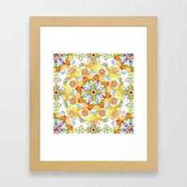 Flower Garden Mandala Framed Art Print
