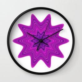 Violet abstract star Wall Clock