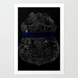 Thin Blue Line CPD Badge Art Print
