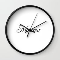 moscow Wall Clocks featuring Moscow by Blocks & Boroughs