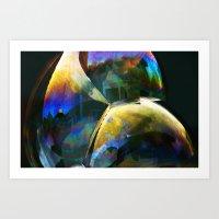 bubble Art Prints featuring Bubble by Lia Bernini
