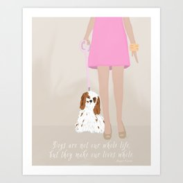 City Dogs: Elizabeth Art Print