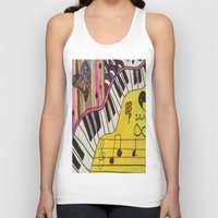 piano Tank Tops featuring Piano by Sydsart1259