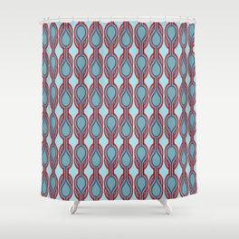 Retro-Delight - Double Drops - Scandinavian Shower Curtain