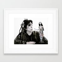 tim burton Framed Art Prints featuring Tim Burton by MrSmudgins