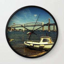 Royal Albert Bridge and boat  Wall Clock