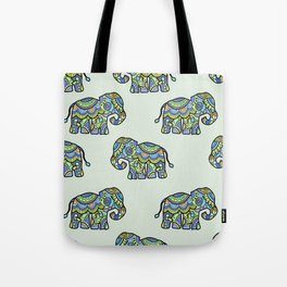 Indian elephants Tote Bag
