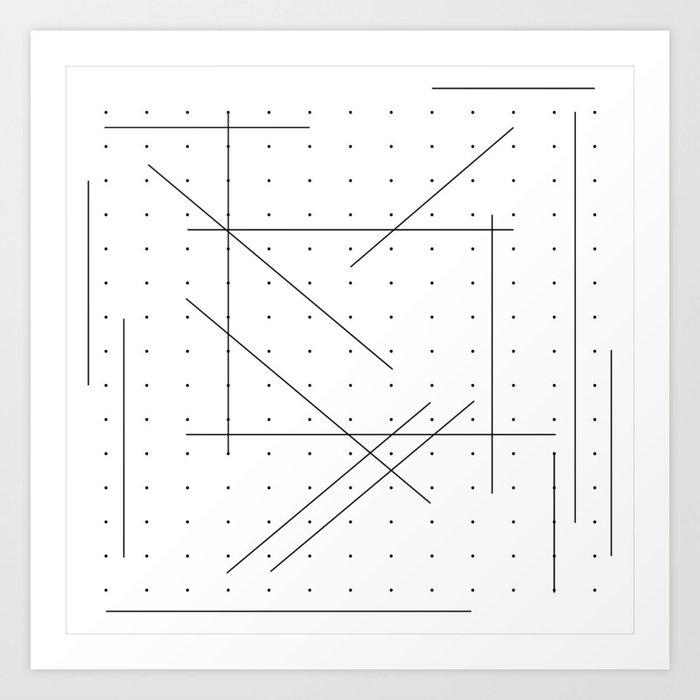 Connet the dots Art Print