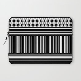 Circles and Barcode Laptop Sleeve