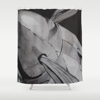 plane Shower Curtains featuring Plane by ann hsieh