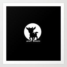 Goat Games Black&White Art Print