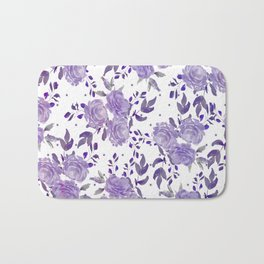 Bouquet of Purple Roses Bath Mat