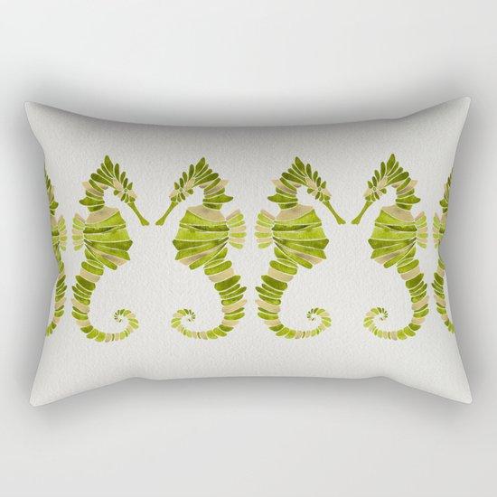 Seahorse – Lime & Gold Rectangular Pillow