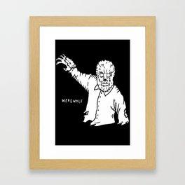 Werewolf Framed Art Print