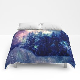 Galaxy Forest : Deep Pastels Comforters
