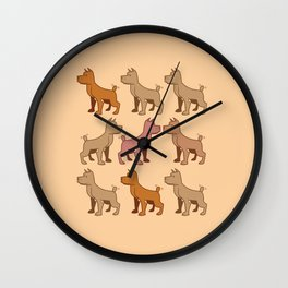 Nine dogs  Wall Clock