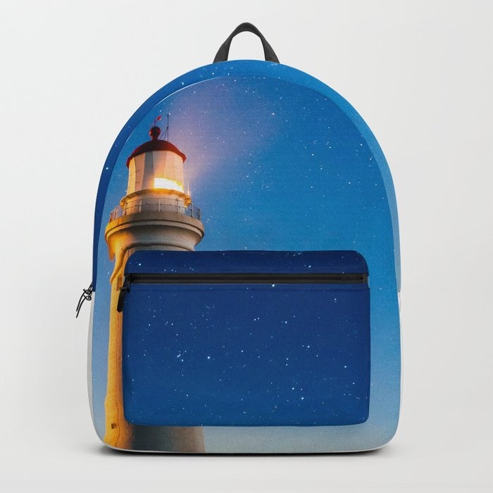 Lighthouse at night Backpack