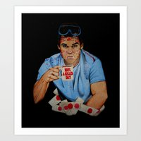 dexter Art Prints featuring Dexter by Lydia Dick